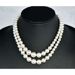 Double Strand Japanese Faux Pearls